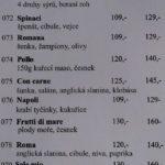 Pizzeria Antonio Olomouc Menu 2