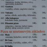Pizzeria Antonio Olomouc Menu 3