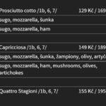 Pizzerie U Dušíčků Pardubice Menu 2