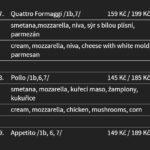 Pizzerie U Dušíčků Pardubice Menu 9