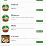 Pizzeria Patricia Olomouc Menu 1