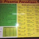 Pizzeria Paradisso Sušice Menu 1