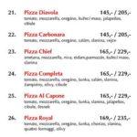 Pizza Nonstop Praha Menu 3