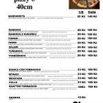 Pizza La Mia Stazione Brno Praha Liberec Olomouc Plzeň Hradec Kralove Menu 1