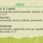Pizza Il Carne Praha Menu 1