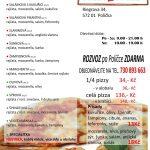Pizza Piazza Polička Menu 1
