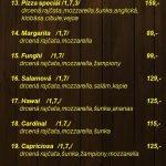 Restaurace U Benešů Vyškov Menu 1