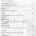 Pizzeria Ristorante Fabiano Praha Menu 1
